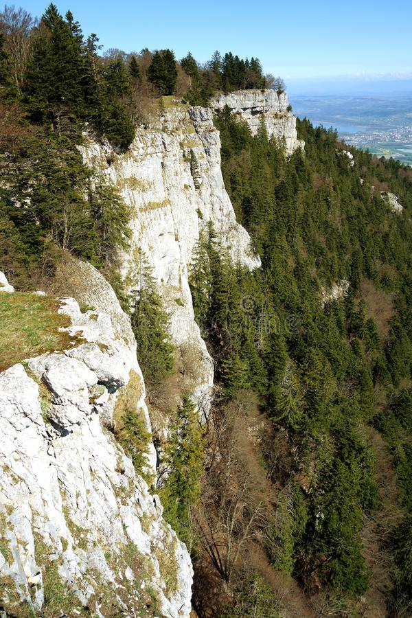 Mont De Baulmes High Cliff Switzerland royalty free stock photos