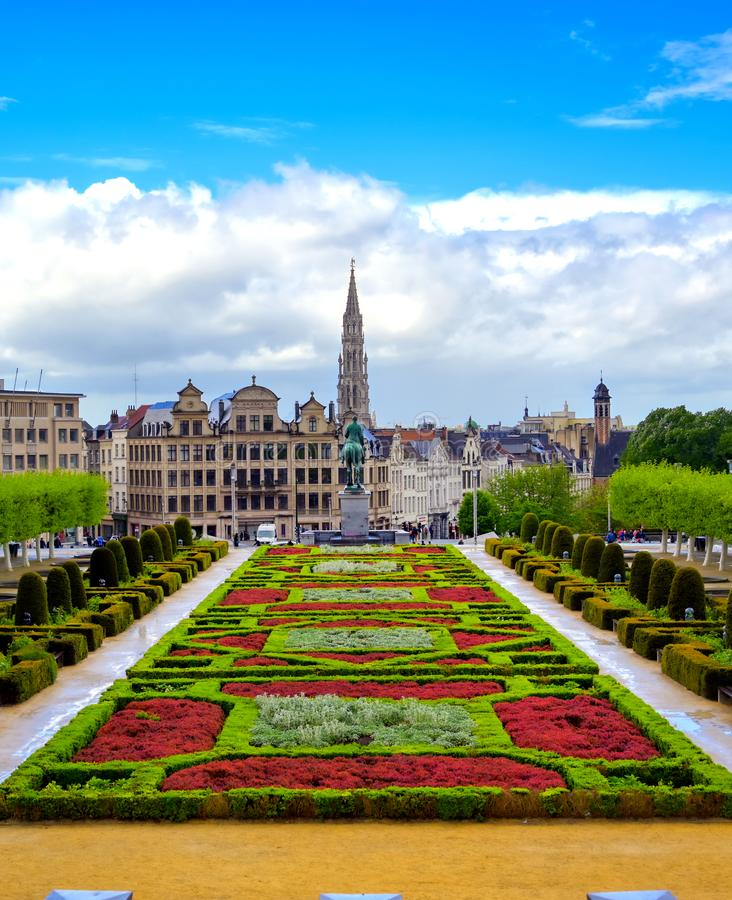 Mont des Arts in Brussel, Belgi? royalty-vrije stock afbeeldingen