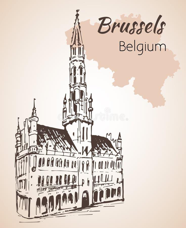 Mont des Arts - Brussels - Belgium- Brussels - Belgium vector illustration