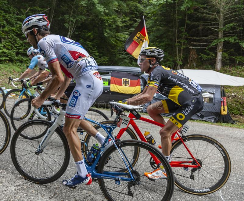 Inside the Peloton - Tour de France 2017 royalty free stock photo