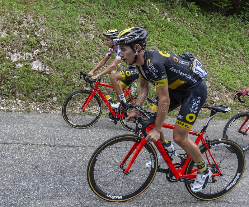 Two Cyclists - Tour de France 2017 royalty free stock images
