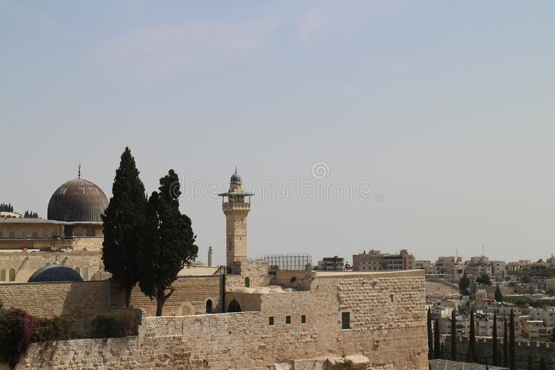 Mont du Temple, Jérusalem, Israël et territoire palestinien photographie stock libre de droits