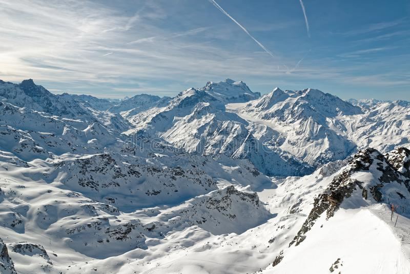 The top of Mont-Fort in Vervier royalty free stock images