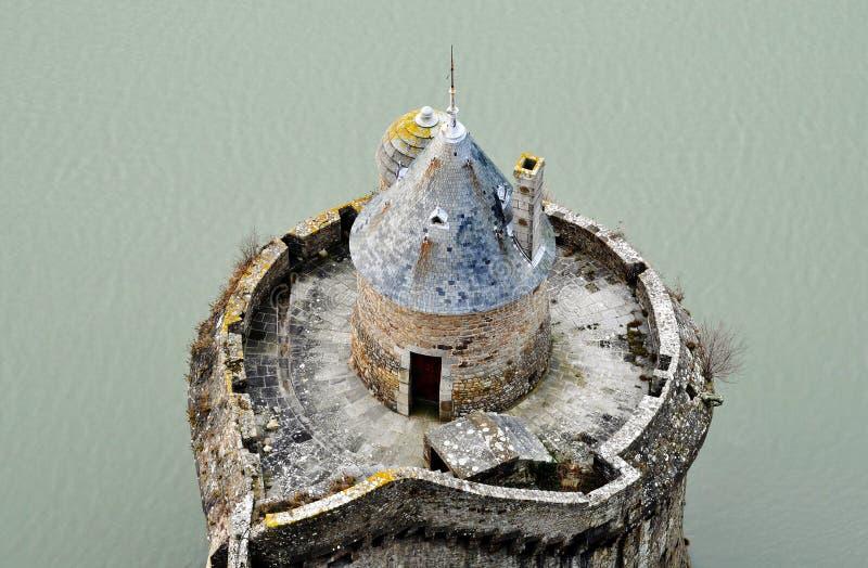 Mont-Heilig-Michel Rampart stockfotografie