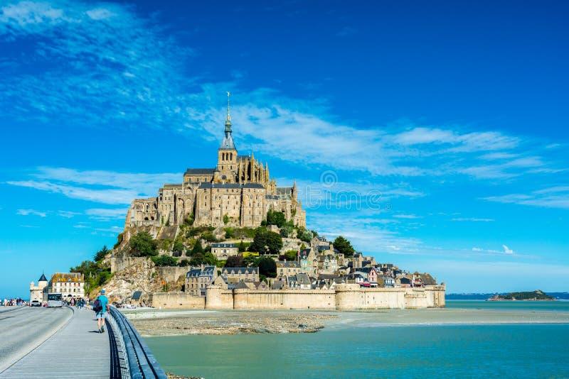 Mont-heilige-Michel, Frankrijk stock foto's
