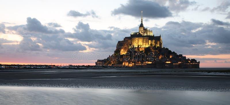 Mont-heilige-Michel, panorama royalty-vrije stock afbeeldingen