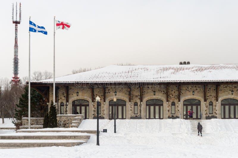 Mont-koninklijk Chalet in Montreal royalty-vrije stock afbeeldingen
