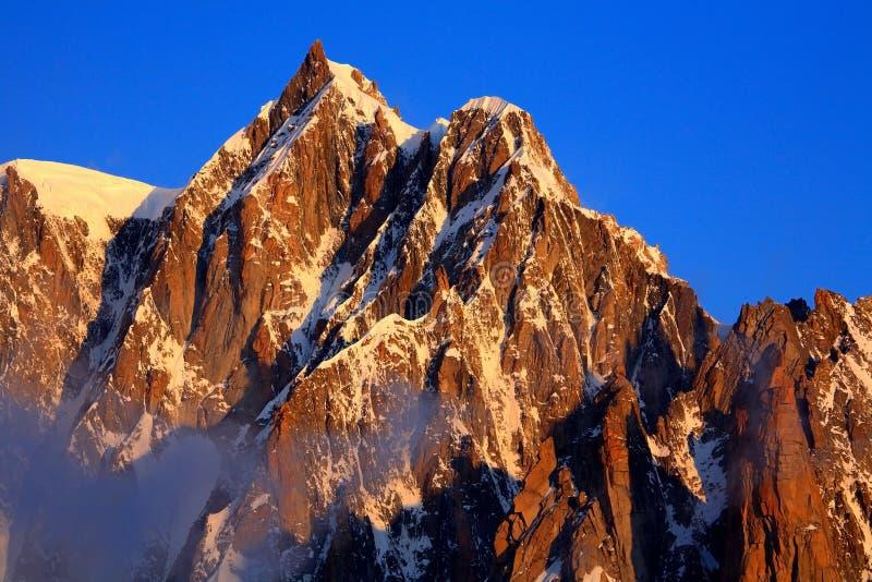 Mont Maudit stock fotografie