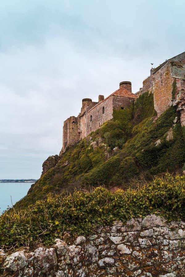 Mont Orgueil Castle, Τζέρσεϋ, νησιά καναλιών στοκ εικόνες με δικαίωμα ελεύθερης χρήσης