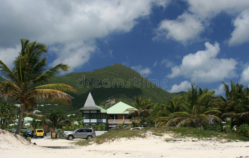 Mont Paradis-Orient Bay Beach royalty free stock photos