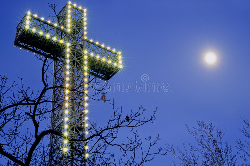 Mont-royal cross stock photography