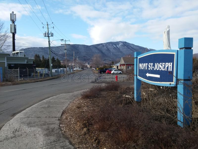 Mont saint joseph. Mountain saint Joseph in Carleton sur mer stock photos