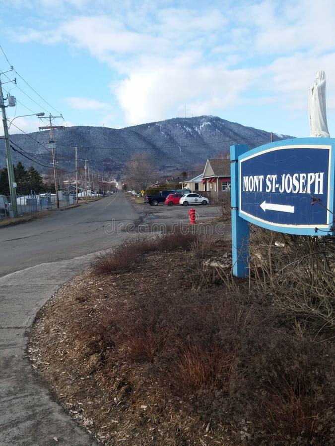 Mont saint joseph. Mountain saint Joseph in Carleton sur mer royalty free stock photos