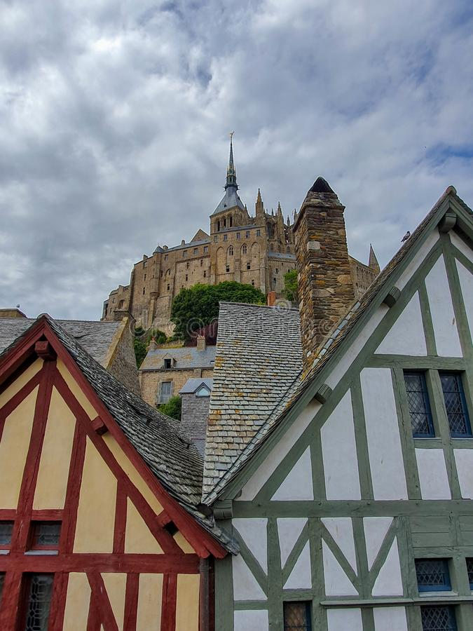 Mont Saint-Michel, Νορμανδία, βόρεια Γαλλία Καλοκαίρι 2019 στοκ φωτογραφίες με δικαίωμα ελεύθερης χρήσης