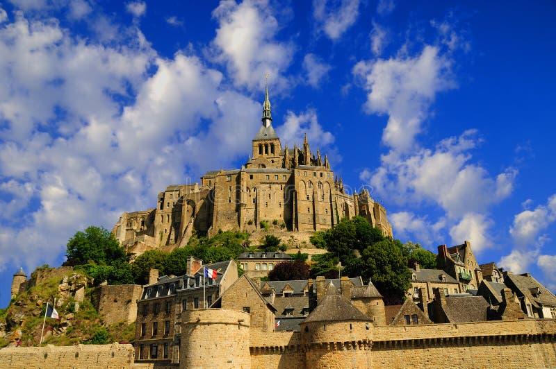 Download Mont Saint Michel stock photo. Image of village, flag - 17860084