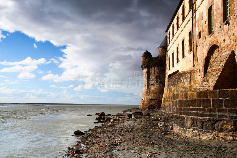 Download Mont Saint Michel stock photo. Image of mountain, fortification - 24632270