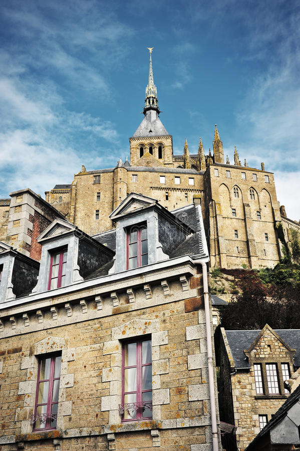 Mont Saint Michel immagini stock libere da diritti