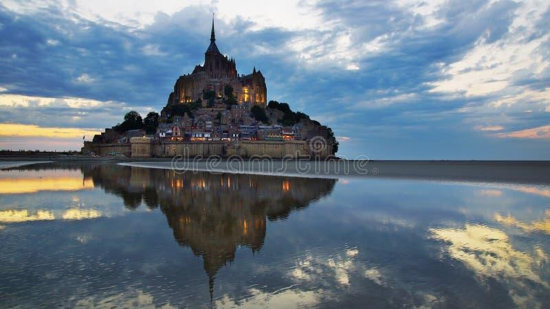 Mont Saint Michel. arkivfoto