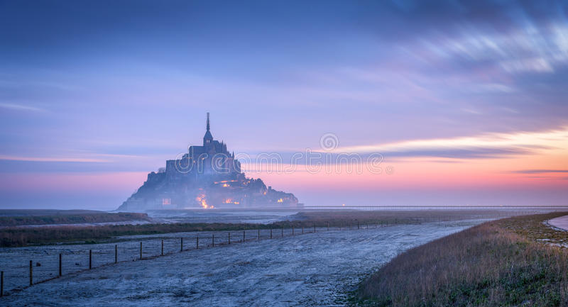 Mont Saint Michel stockbild