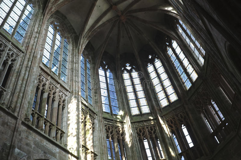 Download Mont Saint Michel abbey stock image. Image of culture - 18678757