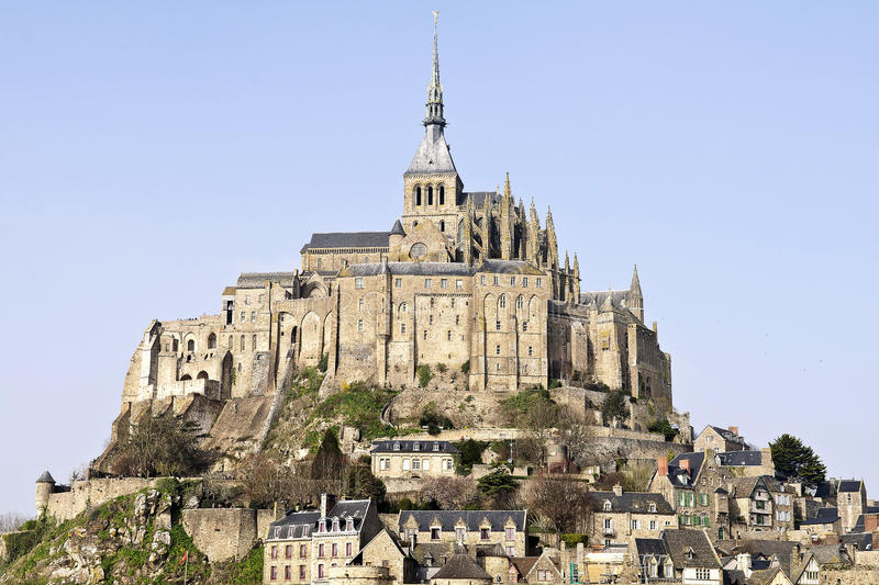 Download Mont Saint Michel abbey stock image. Image of christian - 18679199