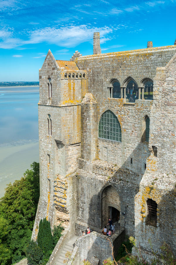 Mont Saint Michel Abbey in Francia fotografie stock libere da diritti