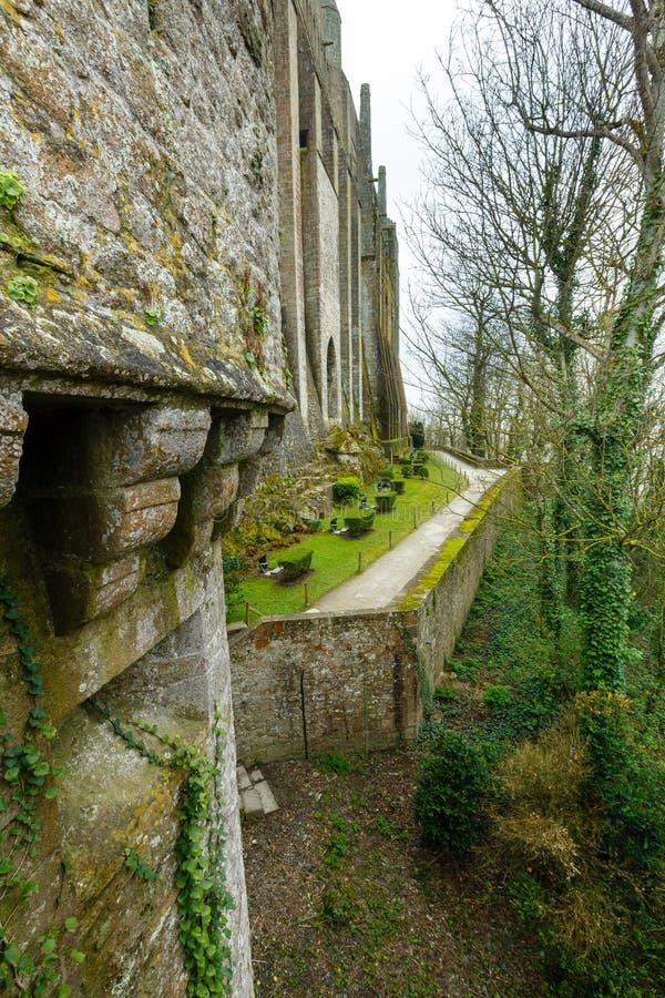 Mont Saint-Michel (França) imagens de stock royalty free