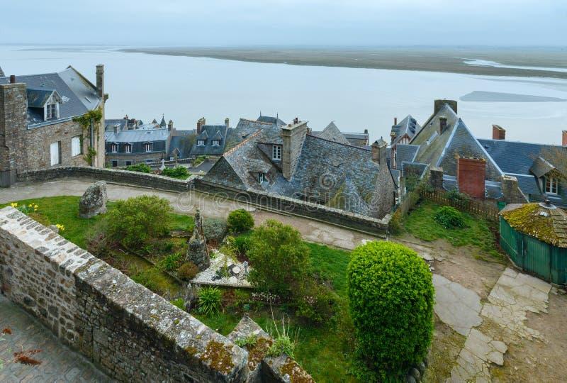 Mont Saint-Michel (França) fotos de stock royalty free