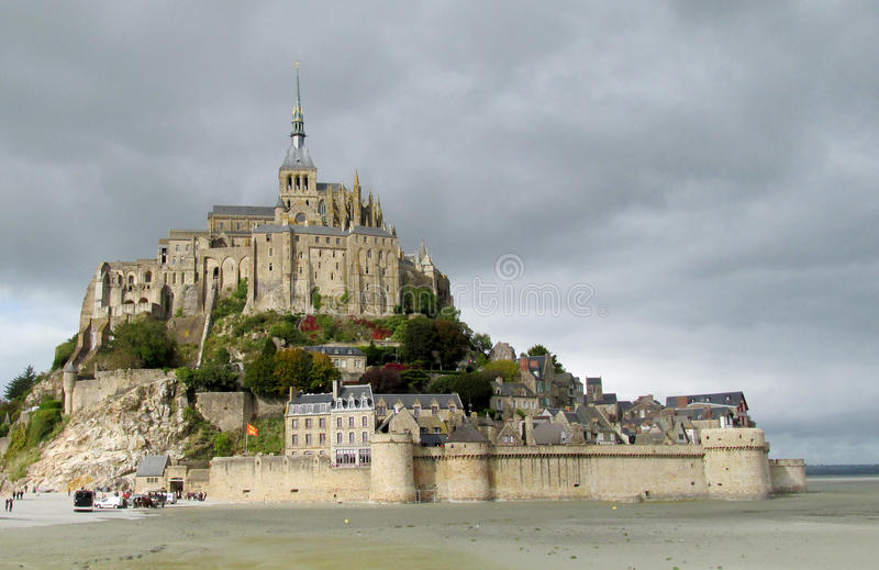 Mont Saint Michel, France stock images