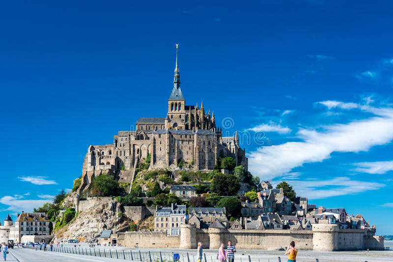The Mont-Saint-Michel, France stock images
