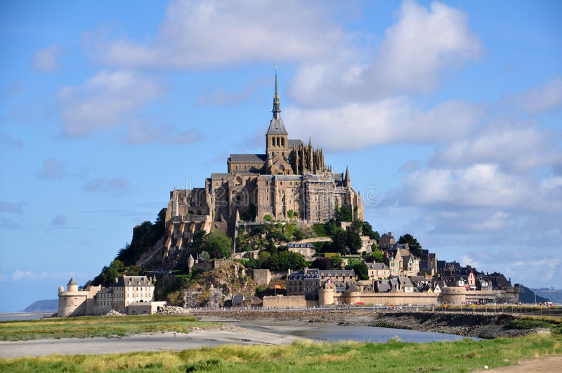Mont Saint Michel in Francia fotografia stock