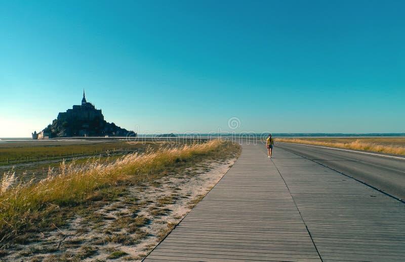 Mont Saint-Michel Frankreich stockfotos