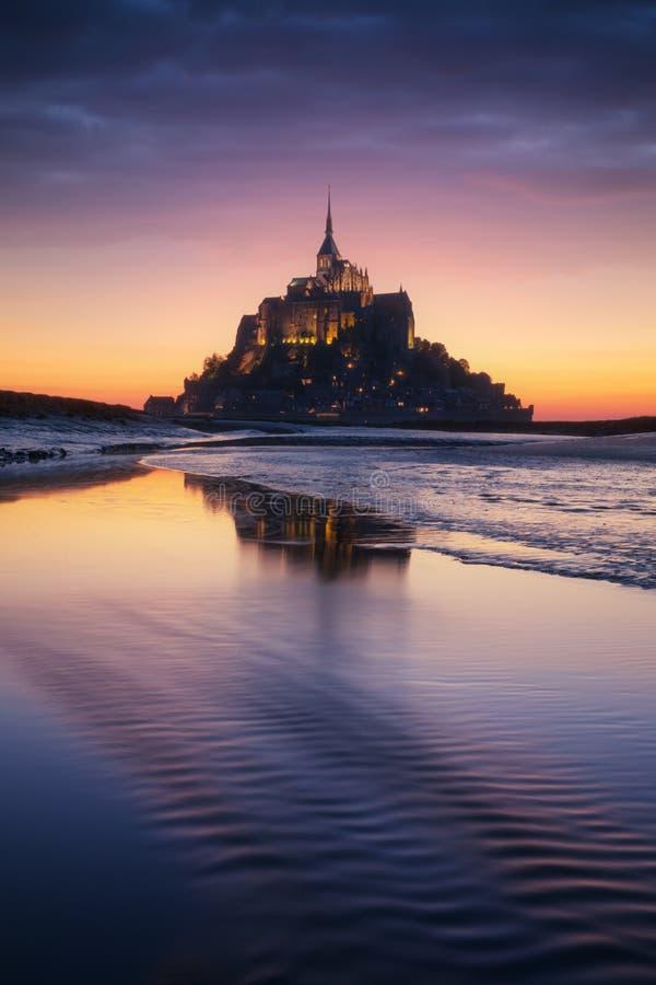Mont Saint-Michel in Frankrijk royalty-vrije stock foto's