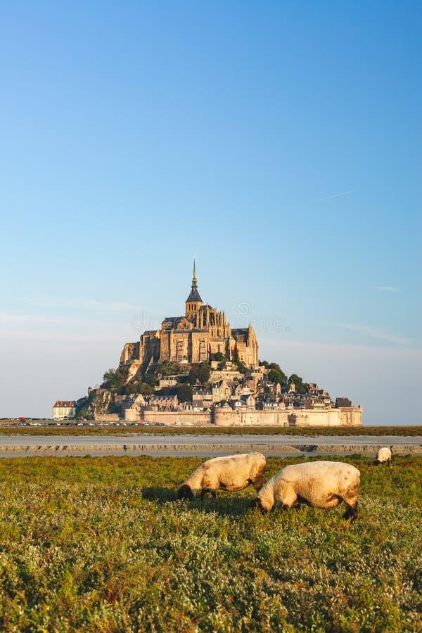 Mont Saint-Michel in Frankrijk royalty-vrije stock fotografie