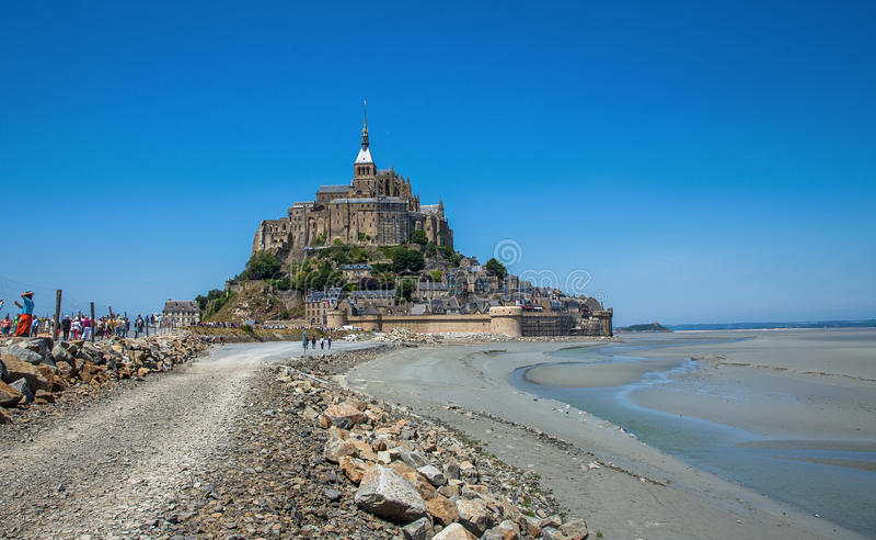 Mont Saint Michel, la Bretagne, France images libres de droits