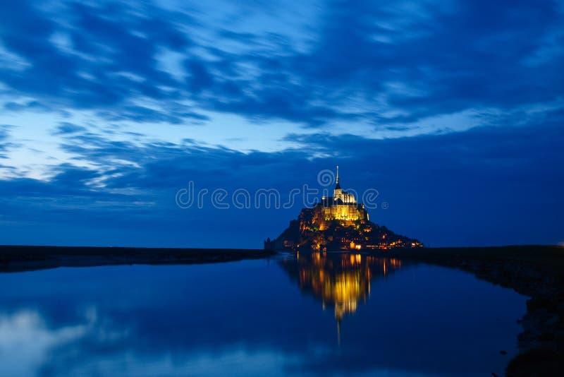 Mont Saint-Michel At Night Royalty Free Stock Image