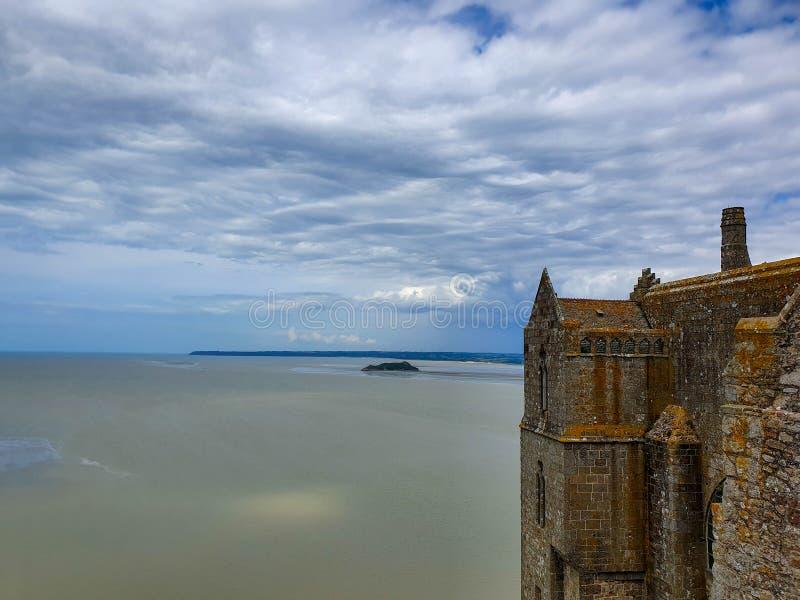 Mont Saint-Michel Normandie, nordliga Frankrike Sommar 2019 royaltyfri fotografi