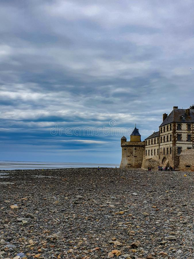 Mont Saint-Michel Normandie, nordliga Frankrike Sommar 2019 arkivfoto