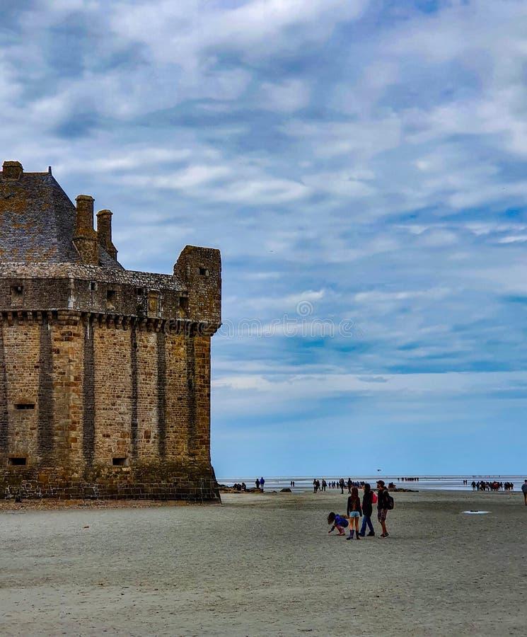 Mont Saint-Michel Normandie, nordliga Frankrike Sommar 2019 royaltyfri foto