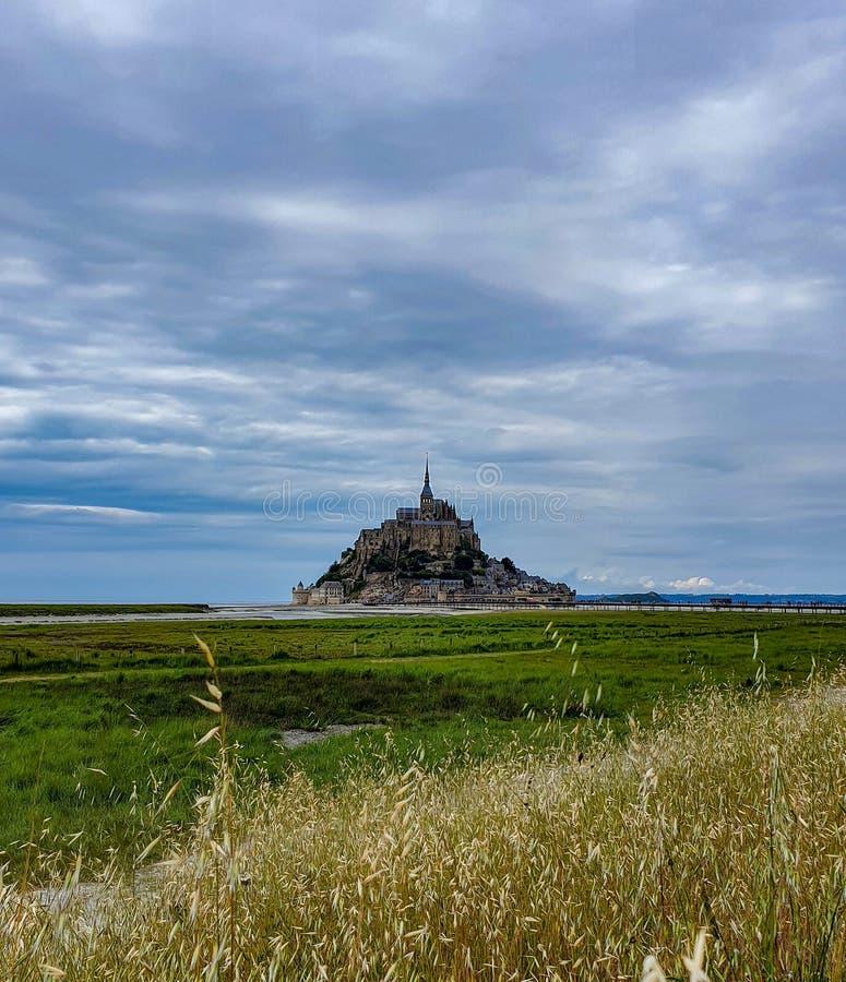 Mont saint-michel, Normandy, północny Francja Lato 2019 zdjęcia stock