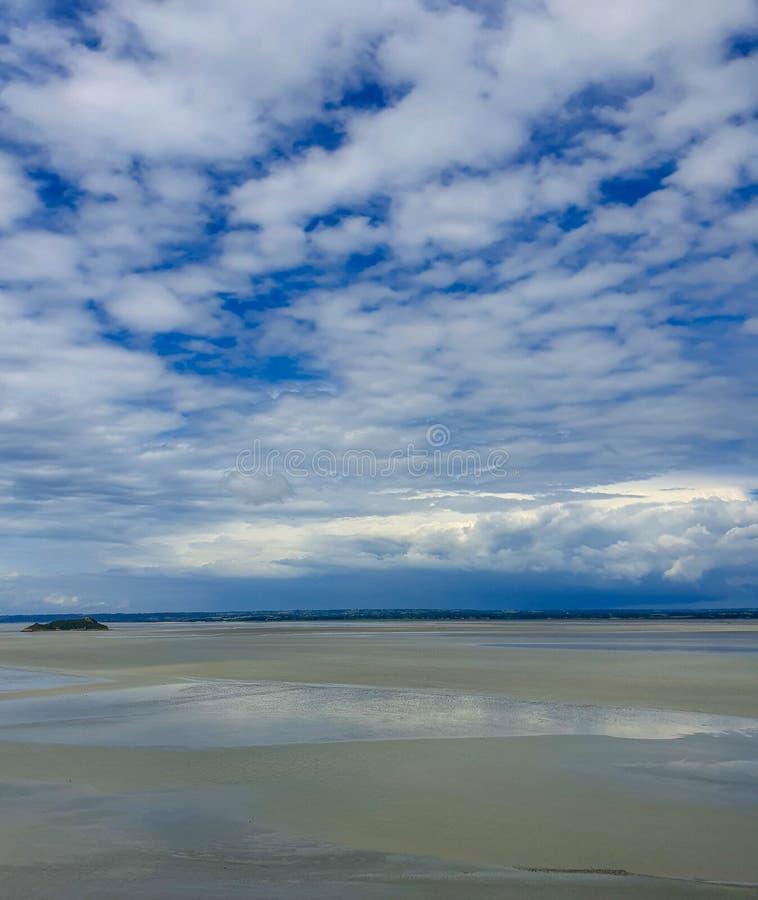 Mont saint-michel, Normandy, północny Francja Lato 2019 obraz stock