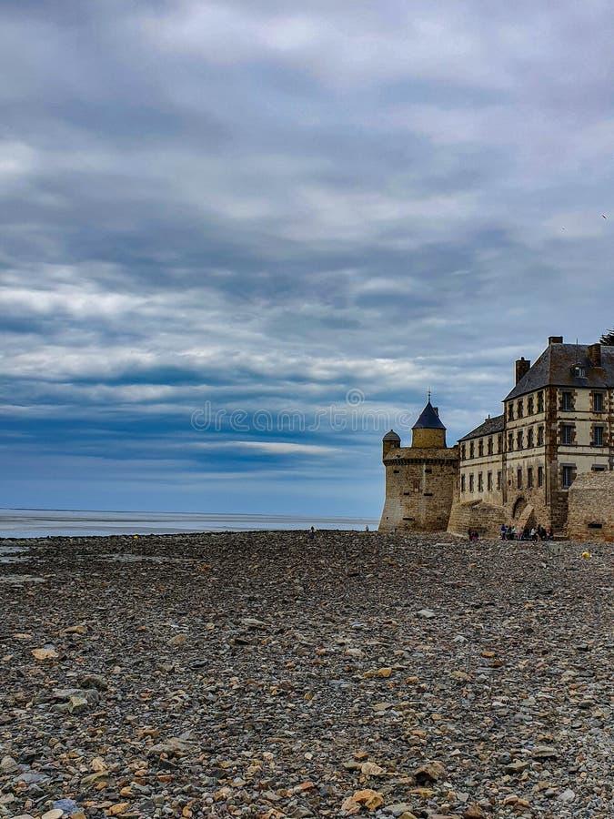 Mont saint-michel, Normandy, północny Francja Lato 2019 zdjęcie stock