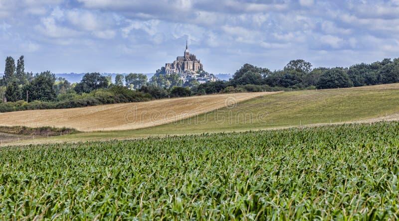 Download Mont Saint Michel stock photo. Image of mont, green, landscape - 92167622