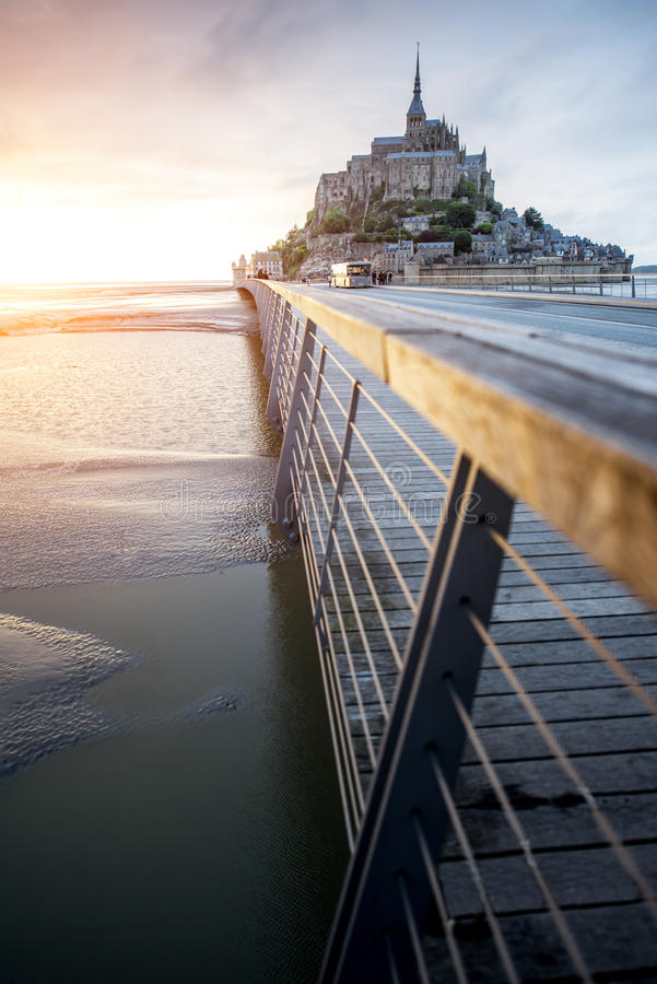 Mont Saint Michelabtei stockbild