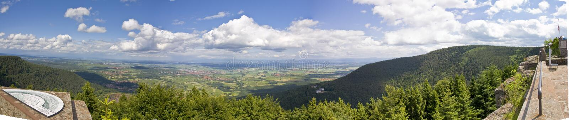 Mont Saint Odile - panoramautsikt arkivbilder