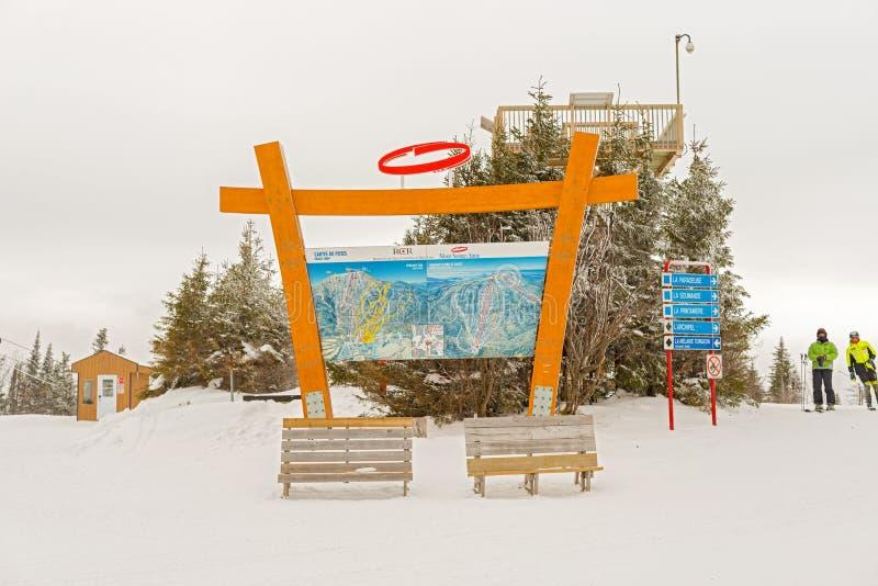 Mont Sainte Anne in Quebec, Kanada stockfotos