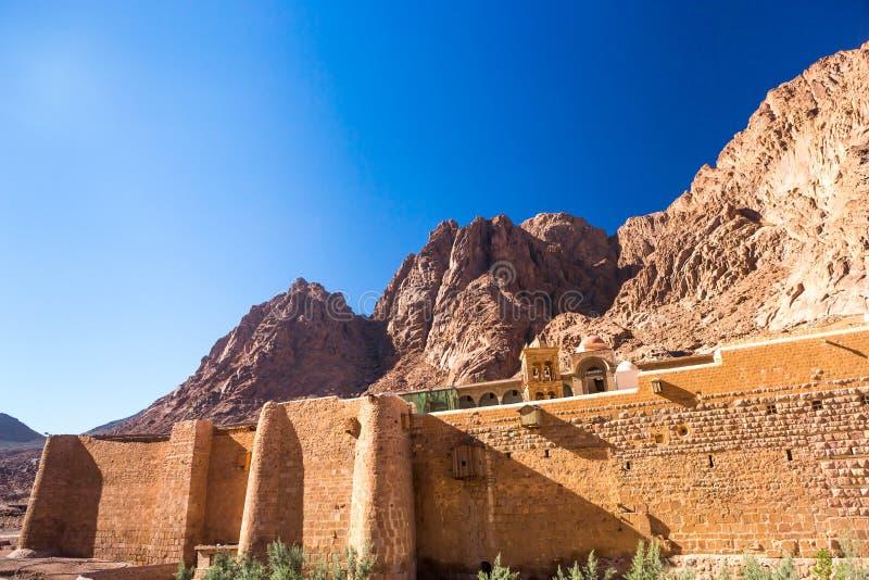 Mont Sinaï, bâti Moïse en Egypte photos stock