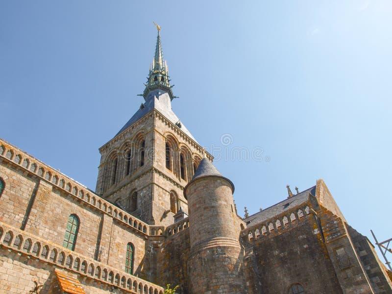 Mont St米谢尔修道院  免版税库存图片