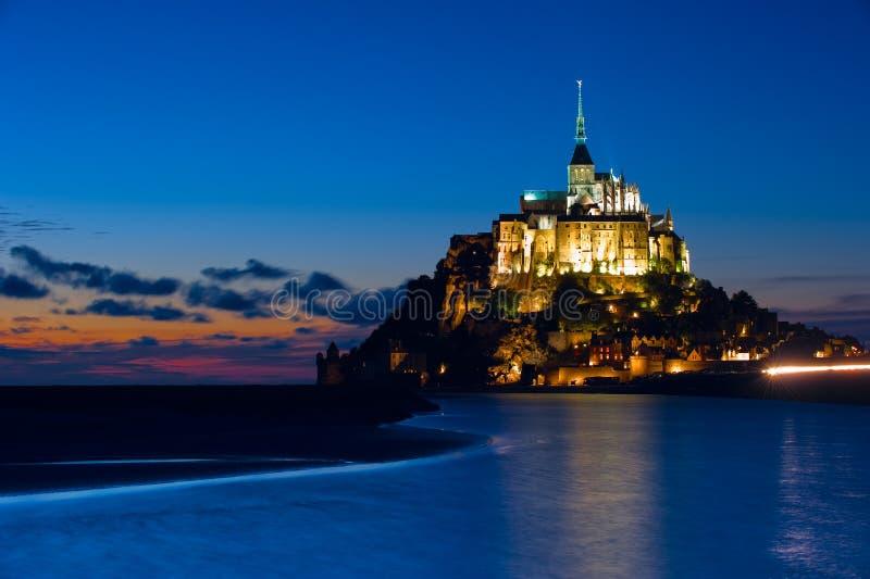 Mont St米谢尔逃出克隆岛在诺曼底,法国 免版税库存照片