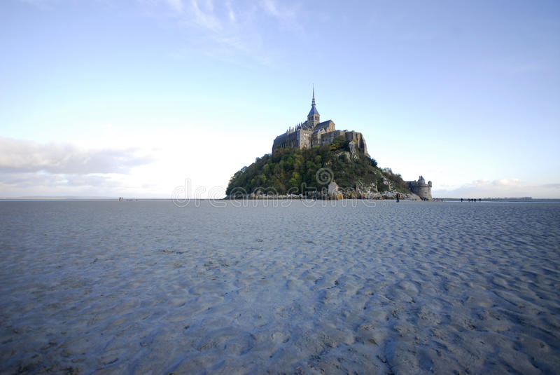 Mont St Michel del lado norte imagen de archivo